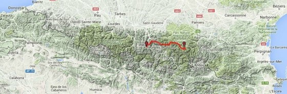 walking itinerary part 5 GR10 trek pyrenees, France